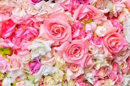 flower arrangements: Artificial flowers background
