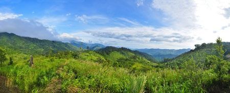 panorama mountain at Maewong National Park, Kamphaeng Phet, Thailand photo