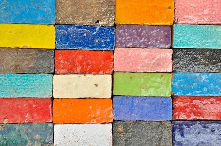 ceramics: Ladrillo colorido Foto de archivo