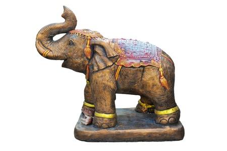 Metal elephant isolated