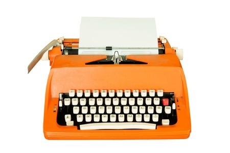 Vintage typewriter isolated photo