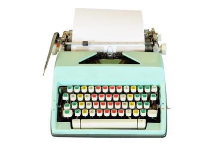 Vintage typewriter isolated photo