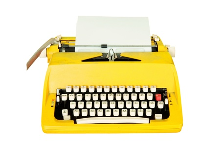 typewriter key: Vintage typewriter isolated