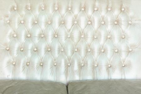 button tufted: Texture of white vintage sofa