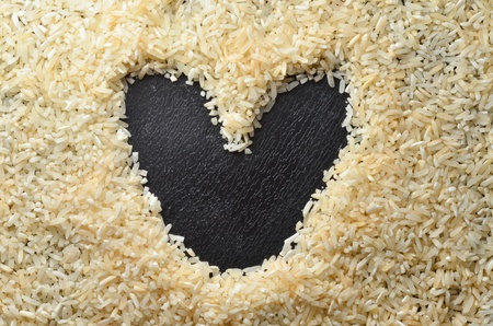 rice and heart space photo