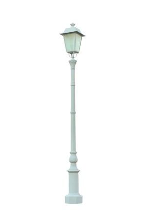 lampposts: Vintage Lamp Post Farola Street Road Light Pole aislados Foto de archivo