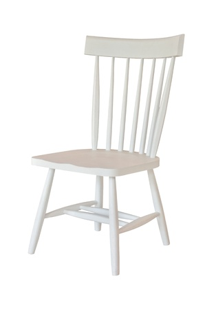 White chair isolated Stock Photo