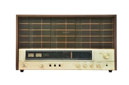 Vintage radio isolated photo