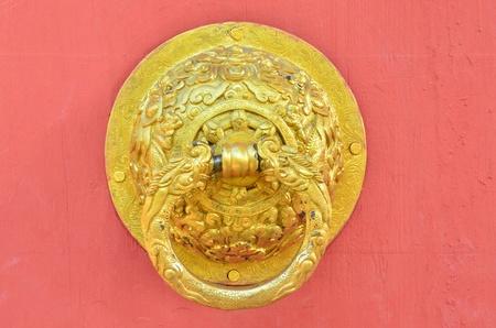 gold dragon door knob photo