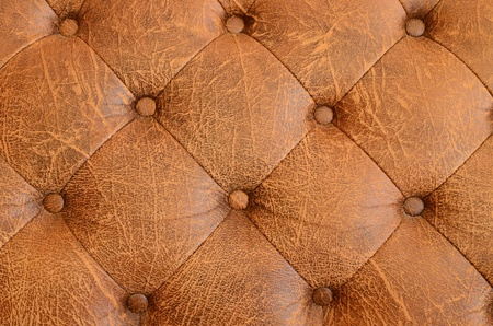 button tufted: Texture of brown vintage sofa