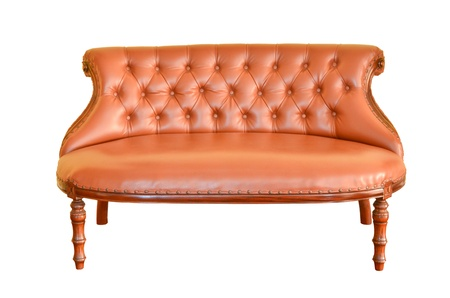 Vintage sofa isolated photo