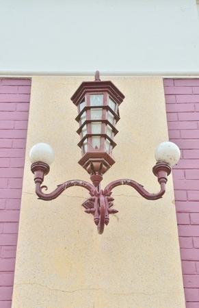 Vintage lamp hang on the wall Stock Photo - 12660469