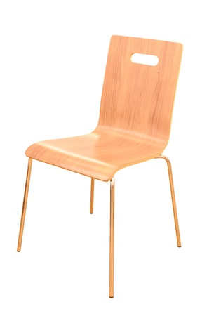 wood chair isolated  photo