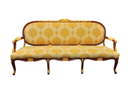 muebles antiguos: Sof� Vintage aislado en blanco
