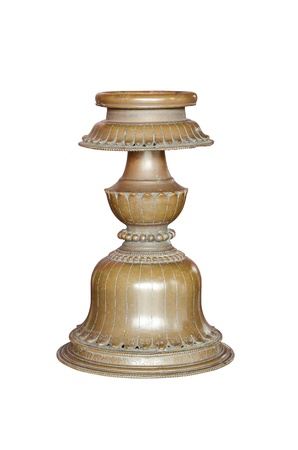 Vintage candlestick isolated photo