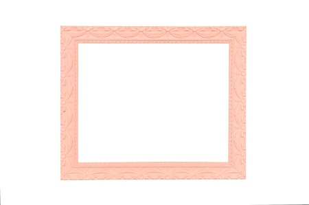 Vintage pink picture frame on pink wall