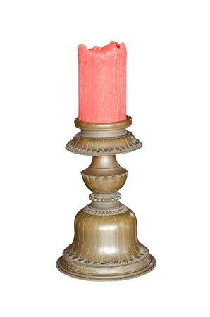 candelabrum: Vintage candlestick isolated