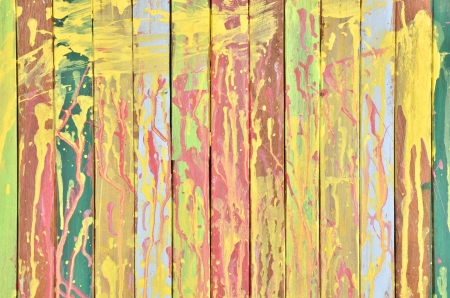 constructing: Vintage colorful wall