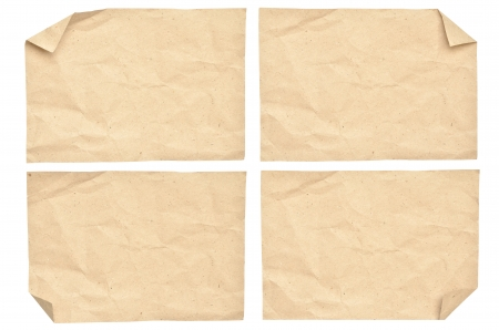 Vintage paper isolated on white photo