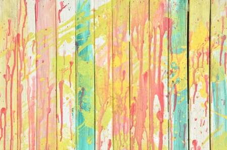 Vintage colorful wall photo