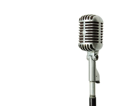 Vintage microphone isolated Stock Photo - 14487688