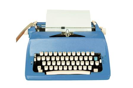 manual: Vintage typewriter isolated