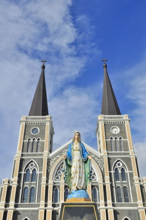 immaculate: The cathedral of the immaculate conception, Chanthaburi, Thailand Stock Photo