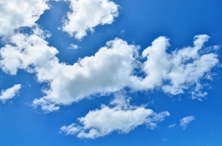 blue sky: Blue sky with clouds