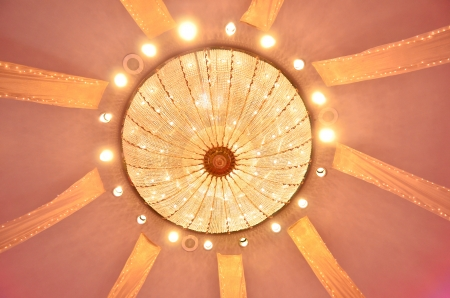 Vintage ceiling lamp photo