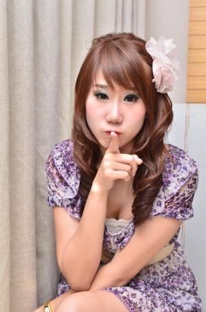 Beautiful woman point finger at you looking at camera Stock Photo - 14650254