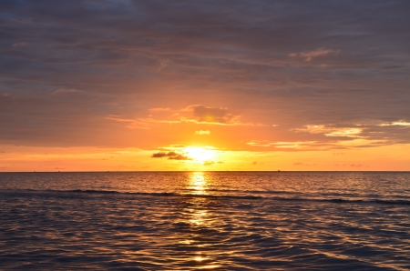Sunrise over sea  photo