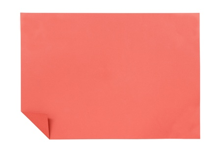 red paper isolated on white photo
