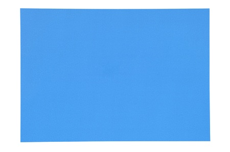 blue paper isolated on white photo