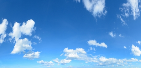 clouds background: panorama blue sky with clouds