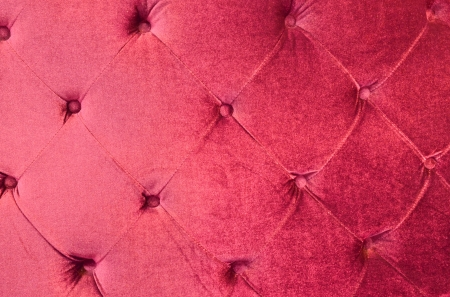 close-up of glamour scarlet sofa Stock Photo