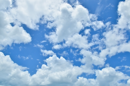 clouds and skies: blue sky with clouds