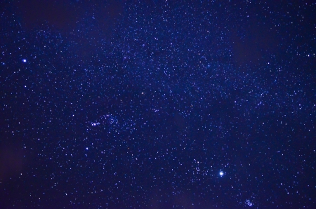 Night sky with stars photo