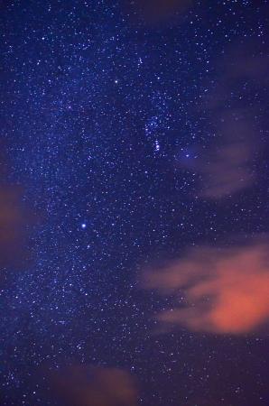 Night sky with stars photo
