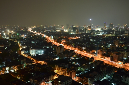 City at night, Bangkok, Thailand photo