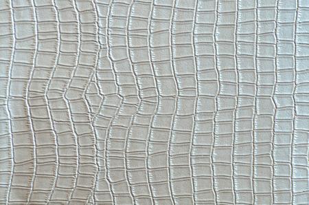 Silver crocodile leather  photo