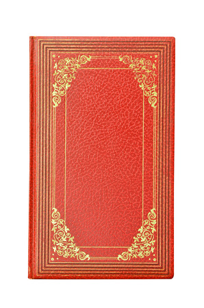 scientific literature: Red book isolated on white background
