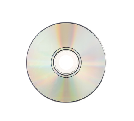 rom: CD rom Isolated on white