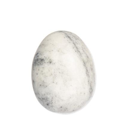 onyx: Onyx stone egg isolated on white background