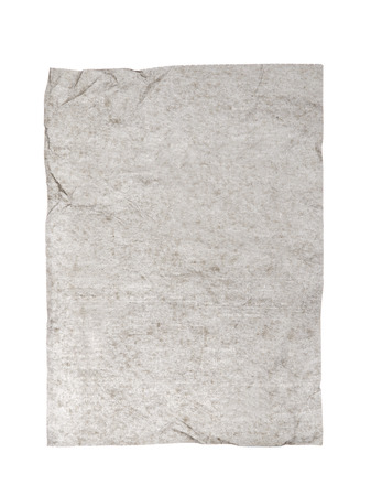 note booklet: Carbon paper isolated on white background