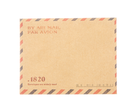 mail: Envelope isolated on white background Stock Photo
