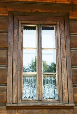 Old wood window in old house