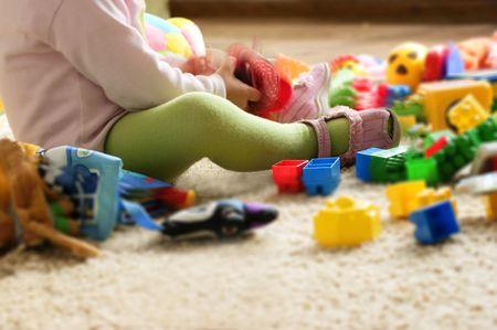 babyroom: Child toys play Stock Photo