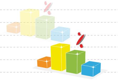 per cent: Per cent graph Illustration