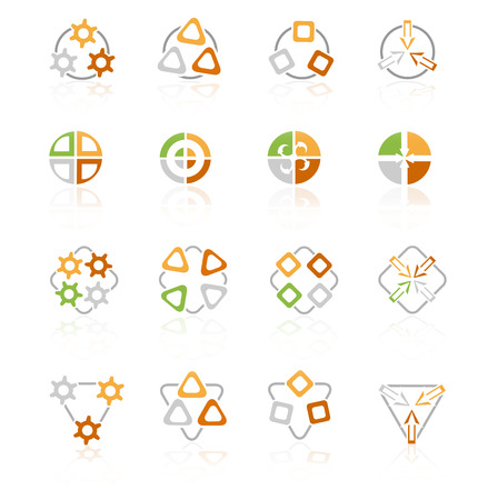 Different abstract symbols for design Vector