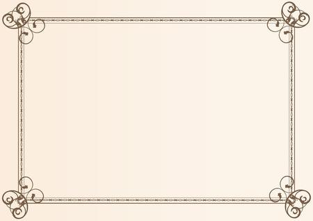 Diploma frame Stock Vector - 6602309
